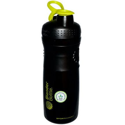 Sundesa, SportMixer Blender Bottle, Black/Green, 28 oz