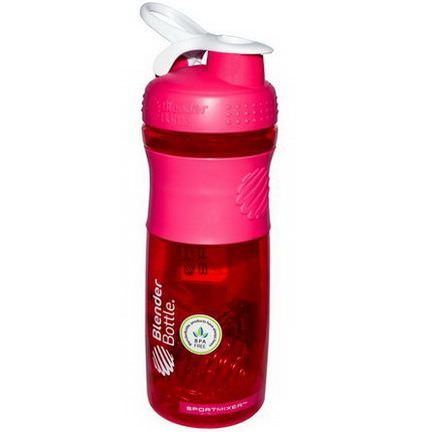 Sundesa, SportMixer Blender Bottle, Pink/White, 28 oz Bottle