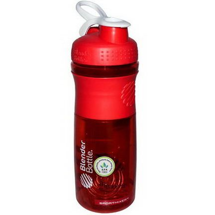 Sundesa, SportMixer Blender Bottle, Red/White, 28 oz