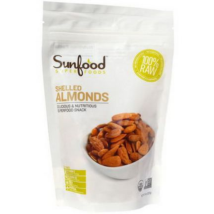 Sunfood, Organic, Shelled Almonds 227g