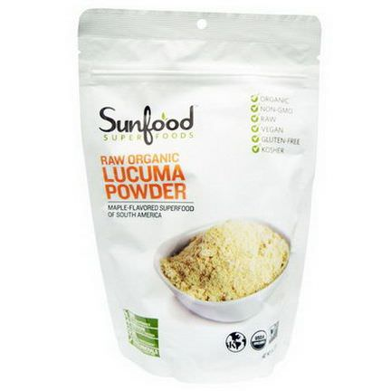 Sunfood, Raw Organic Lucuma Powder 227g
