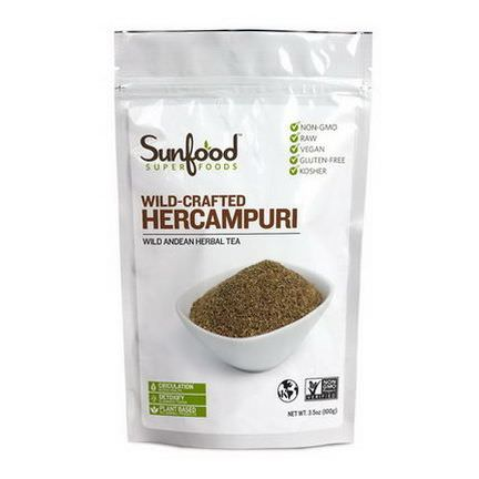 Sunfood, Wild Andean Herbal Tea, Hercampuri, Wild-Crafted 100g