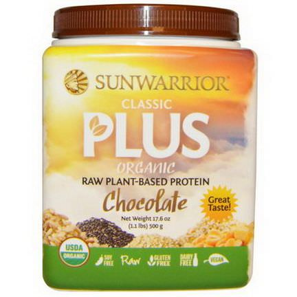 Sunwarrior, Organic Classic Plus, Chocolate 500g
