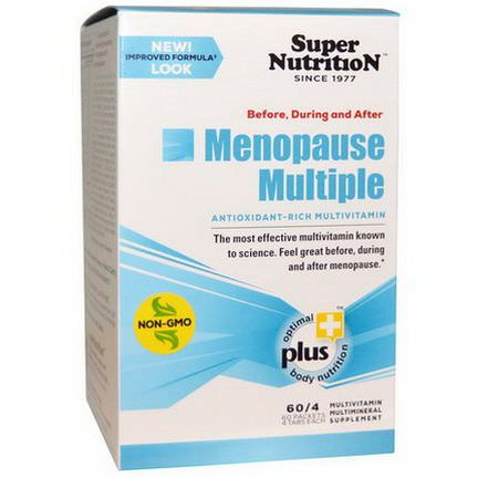 Super Nutrition, Before, During and After Menopause Multiple, Antioxidant-Rich Multivitamin, 60 Packets 4 Tablets Each