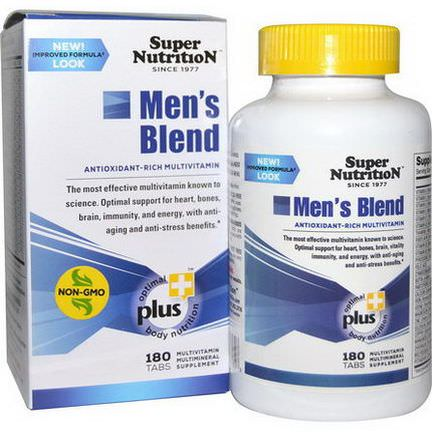 Super Nutrition, Men's Blend, Antioxidant-Rich Multivitamin, 180 Tablets