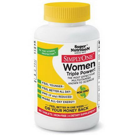 Super Nutrition, Simply One, Women Triple Power, Iron-Free, 90 Tablets