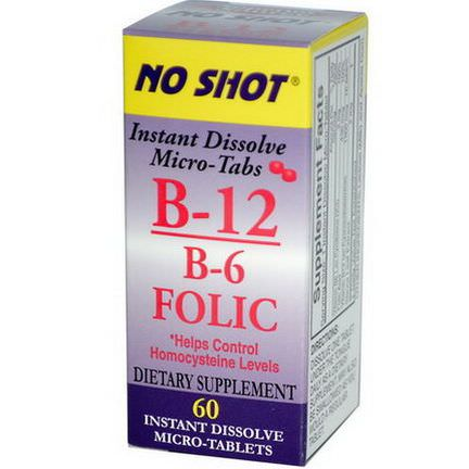 Superior Source, B-12 / B-6&Folic, 60 Tablets