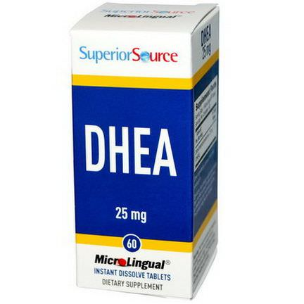 Superior Source, DHEA, 25mg, 60 MicroLingual Instant Dissolve Tablets