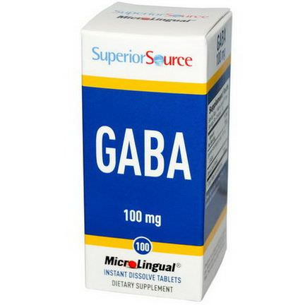 Superior Source, GABA, 100mg, 100 MicroLingual Instant Dissolve Tablets