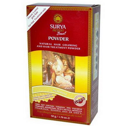 Surya Henna, Brasil Powder, Natural Hair Coloring and Treatment Powder, Neutral 50g