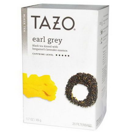 Tazo Teas, Earl Grey, Black Tea, 20 Filterbags 49g
