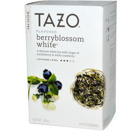 Tazo Teas, Flavored Berryblossom White Tea, 20 Filterbags 30g