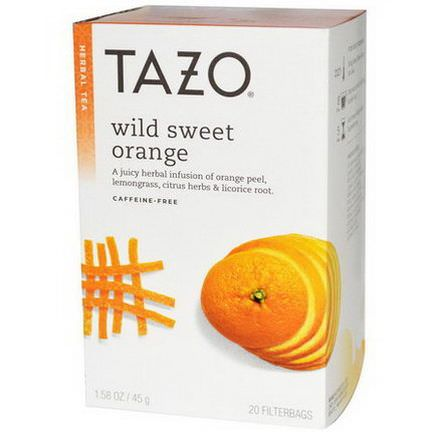 Tazo Teas, Wild Sweet Orange, Herbal Tea, Caffeine-Free, 20 Filterbags 45g