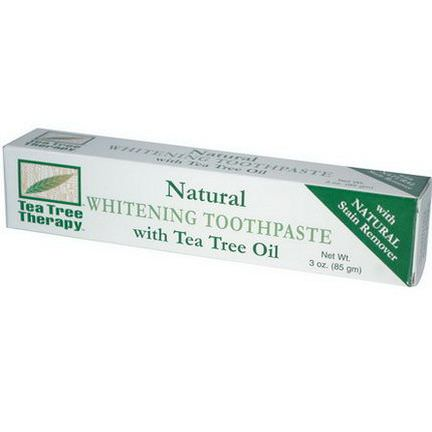 Tea Tree Therapy, Natural Whitening Toothpaste, with Tea Tree Oil 85g