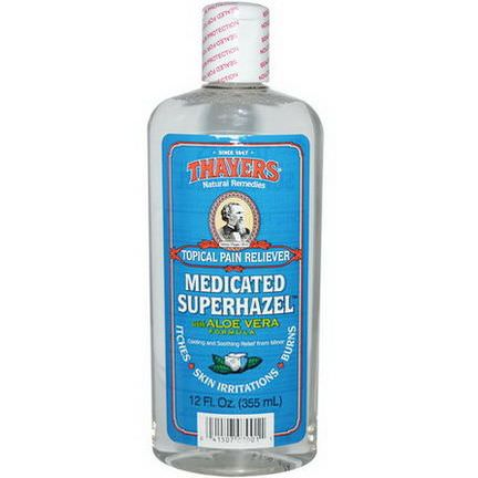 Thayers, Medicated Superhazel with Aloe Vera Formula, Topical Pain Reliever 355ml