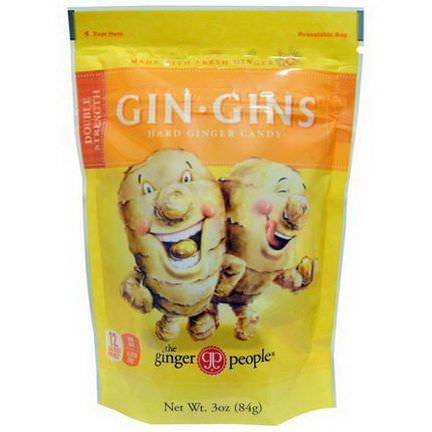 The Ginger People, Gin-Gins, Hard Ginger Candy, Double Strength 84g