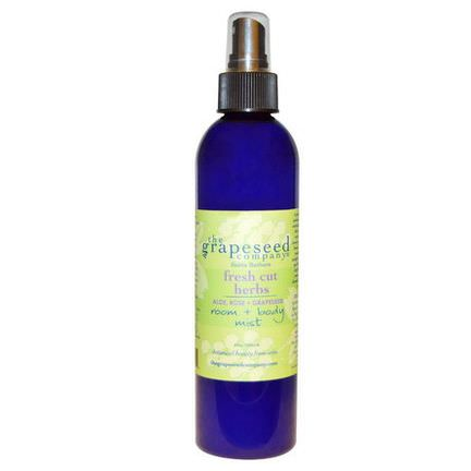 The Grapeseed Company Santa Barbara, Fresh Cut Herbs, Room Body Mist 260ml