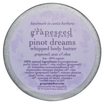 The Grapeseed Company Santa Barbara, Whipped Body Butter, Pinto Dreams, 2 oz