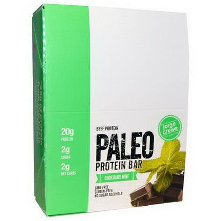 The Julian Bakery, Paleo Protein Bar, Beef Protein, Chocolate Mint, 12 Bars 65.2g Each