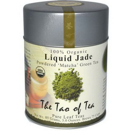 The Tao of Tea, 100% Organic Japanese Powdered Matcha Green Tea, Liquid Jade 85g