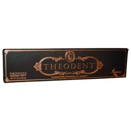 Theodent, Fluoride Free Toothpaste With Rennou, Whitening Crystal Mint 96.4g