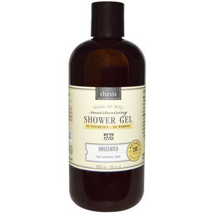 Thesis, Moisturizing Shower Gel, Unscented 355ml