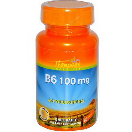 Thompson, B6, 100mg, 60 Tablets