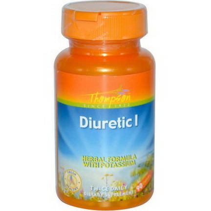 Thompson, Diuretic I, Herbal Formula with Potassium, 90 Capsules