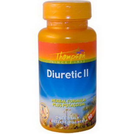 Thompson, Diuretic II, Herbal Formula Plus Potassium, 90 Capsules