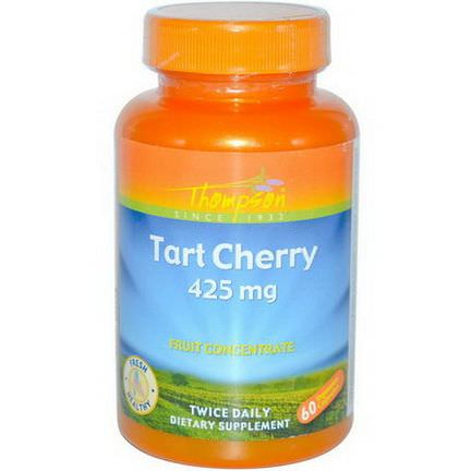 Thompson, Tart Cherry, 425mg, 60 Veggie Caps