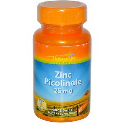 Thompson, Zinc Picolinate, 25mg, 60 Tablets
