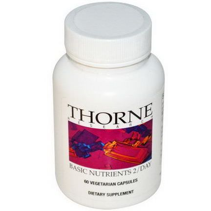 Thorne Research, Basic Nutrients 2/Day, 60 Veggie Caps