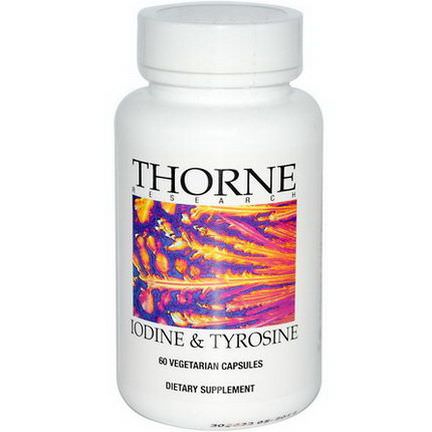 Thorne Research, Iodine&Tyrosine, 60 Veggie Caps