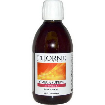 Thorne Research, Omega Superb, Lemon Berry 250ml