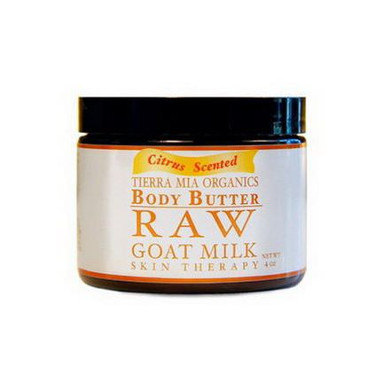 Tierra Mia Organics, Body Butter, Raw Goat Milk Skin Therapy, Citrus Scented, 4 oz