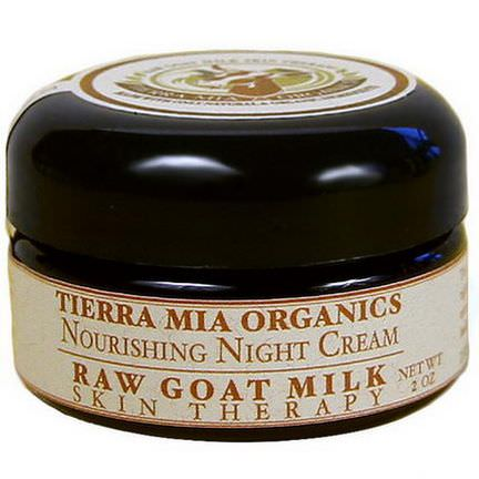 Tierra Mia Organics, Raw Goat's Milk Skin Therapy, Nourishing Night Cream, 2 oz