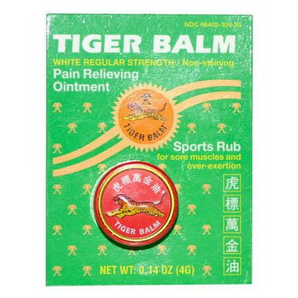 Tiger Balm, Pain Relieving Ointment, White Regular Strength 4g