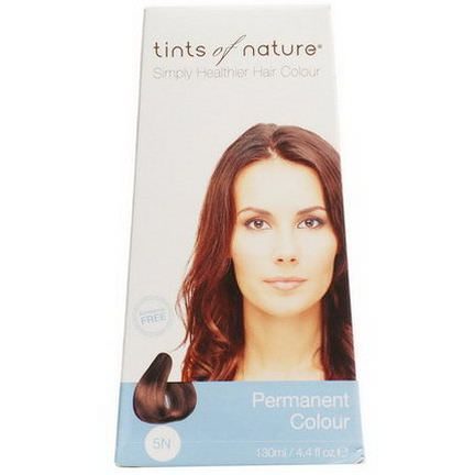 Tints of Nature, Permanent Color, Natural Light Brown, 5N 130ml