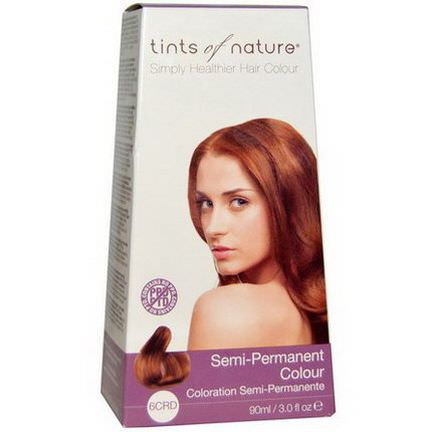Tints of Nature, Semi-Permanent Color, Copper Red, 6CRD 90ml