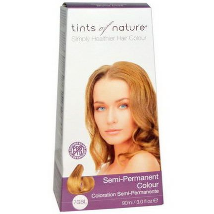 Tints of Nature, Semi-Permanent Color, Golden Blonde, 7GBL 90ml