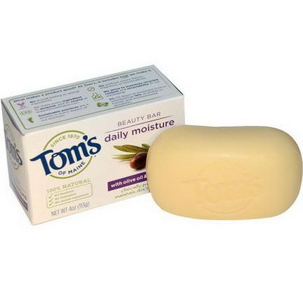 Tom's of Maine, Beauty Bar, Daily Moisture with Olive Oil&Vitamin E 113g