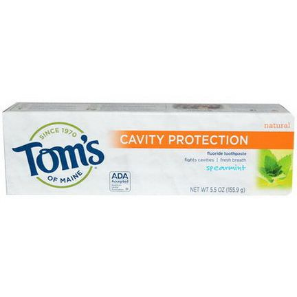 Tom's of Maine, Cavity Protection Fluoride Toothpaste, Spearmint 155.9g