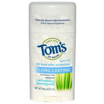 Tom's of Maine, Long Lasting Deodorant, Refreshing Lemongrass 64g