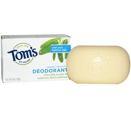 Tom's of Maine, Natural Beauty Bar, Deodorant 113g