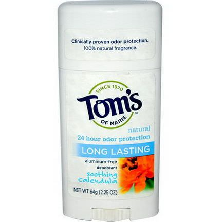 Tom's of Maine, Natural Long Lasting Deodorant, Soothing Calendula 64g