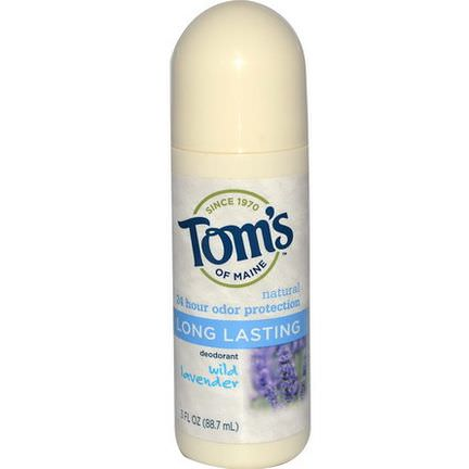 Tom's of Maine, Natural Long-Lasting Roll-On Deodorant, Wild Lavender 88.7ml