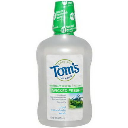 Tom's of Maine, Wicked Fresh! Mouthwash, Cool Mountain Mint 473ml