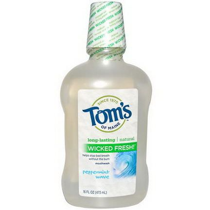 Tom's of Maine, Wicked Fresh, Mouthwash, Peppermint Wave 473ml