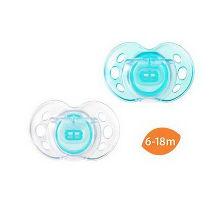 Tommee Tippee, Close to Nature, Air Style Pacifiers, Orthodontic, 2 Pacifiers