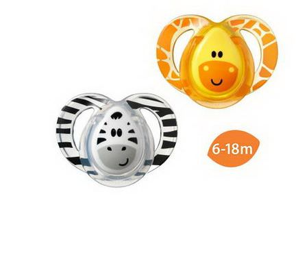 Tommee Tippee, Close to Nature, Fun Style Pacifiers, Orthodontic, 2 Pacifiers